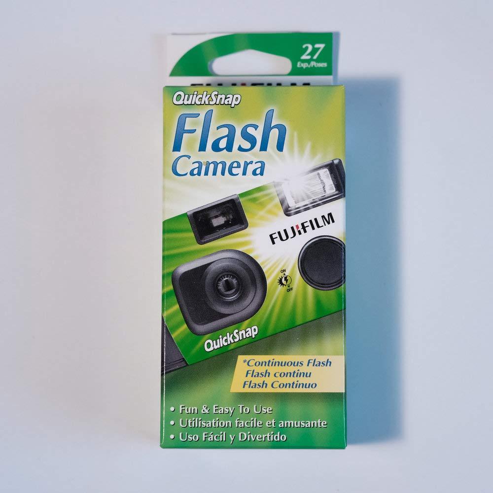 Fujifilm QuickSnap Flash 400 Disposable 35mm Camera + PURE FIBER USA Microfiber Cloth (3 Pack) by Fujifilm