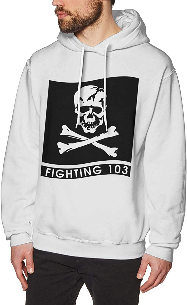 MUSICOT VFA-103 Mens Pullover Hooded Sweatshirt Cozy Sport Outwear