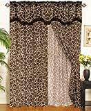 Giraffe Animal Curtain Set w/ Valance/Sheer/Tassels