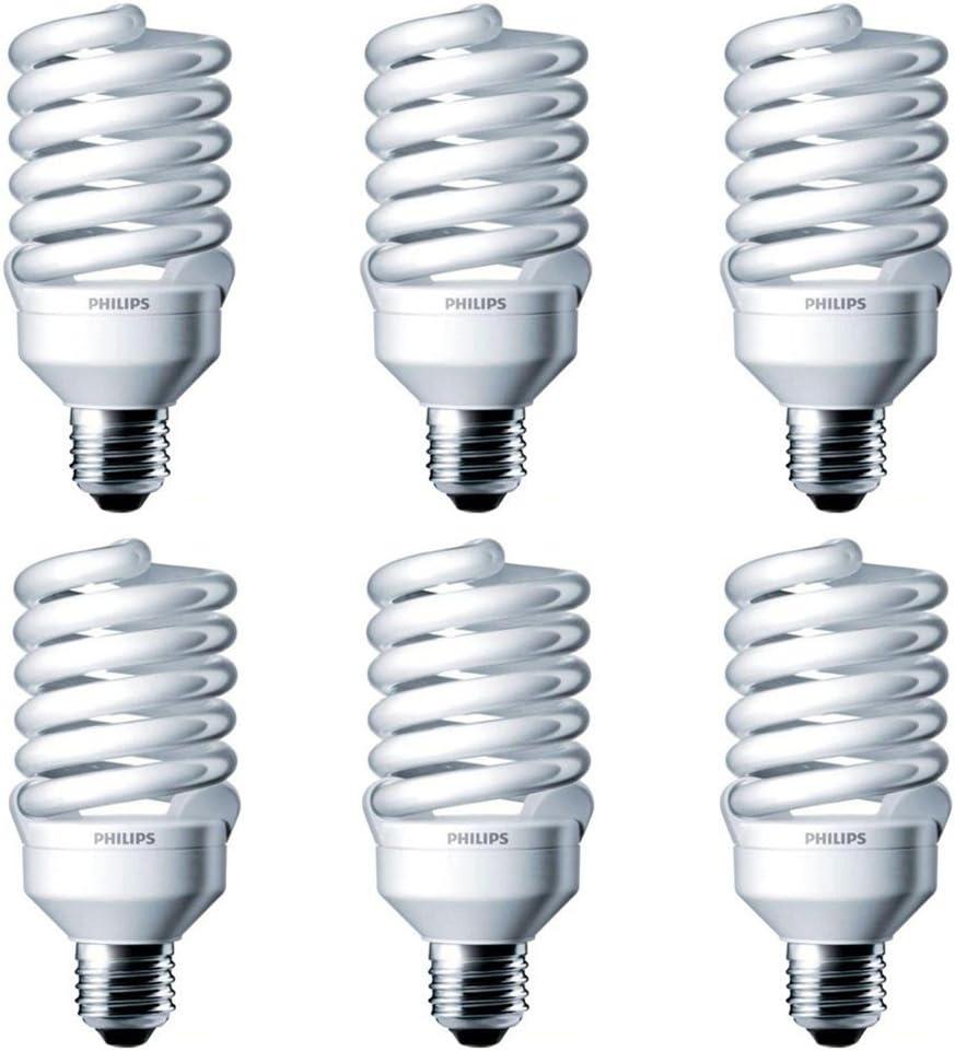 Philips 417071 Energy Saver Compact Fluorescent 13-Watt T2 Soft White Twister Household Light Bulb 4-Pack
