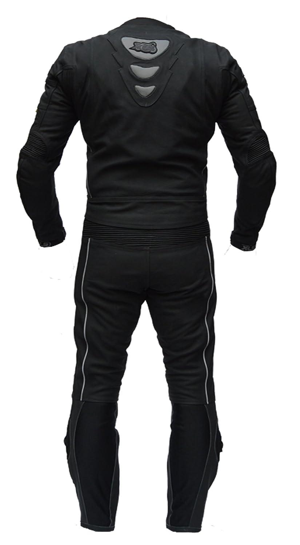 114 XLS Lederkombi zweiteilig hochwertiger Zweiteiler in schwarz matt als Langgr/ö/ße Schlankegr/ö/ße