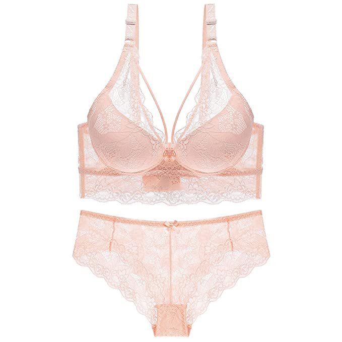 4842f48ac1cb4 Amazon.com  Julexy C D Cup Sexy Women Bra Sets with Matching Panties ...