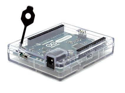 Premium transparente Caso para Arduino Leonardo RoHS