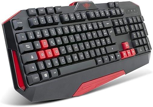 Spirit Of Gamer - Pro-K3 - Teclado QWERTY - Rojo y Negro - 26 Teclas Anti-Ghosting - 4 Teclas Macro y Programables para Juegos Videos - PS4 / XBOX ONE ...