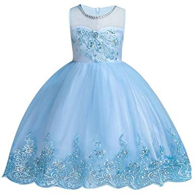 2b31dfa8162 kids Showtime Girls Dresses Pageant Wedding Bridesmaid Princess Party  Flowers Ball Gown