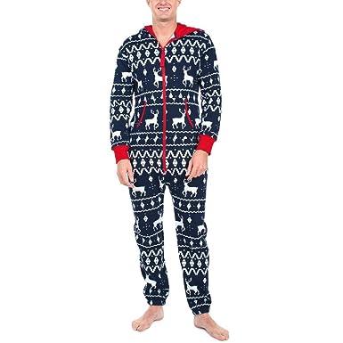 Jumpsuit Weihnachten.Damen Jumpsuit Pyjama Gjkk Damen Winter Warm Langarm Jumpsuit Mit Kapuze 3d Weihnachten Elch Gedruckt Jumpsuit Pyjamas Nachtwasche Schlafanzuge