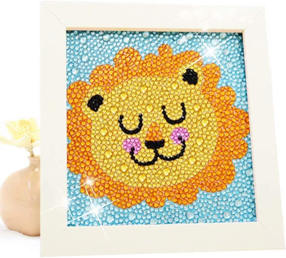 include wooden frame-Unicorn Diamond Painting for kids full drill Painting by Number Kits arts crafts supply set Rhinestone Mosaic Making for Home Wall Decor gifts for christmas birthday mothers day