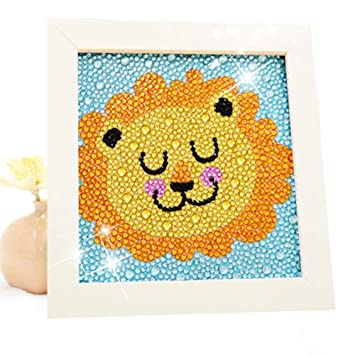 Amazon Com Diamond Painting For Kids Full Drill Painting By Number