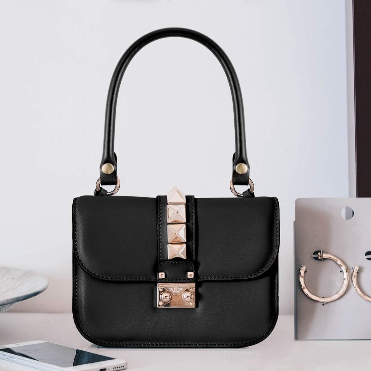 54 cm in pelle Manici di ricambio per borsa a tracolla colore: nero da donna 2 pezzi SUPVOX