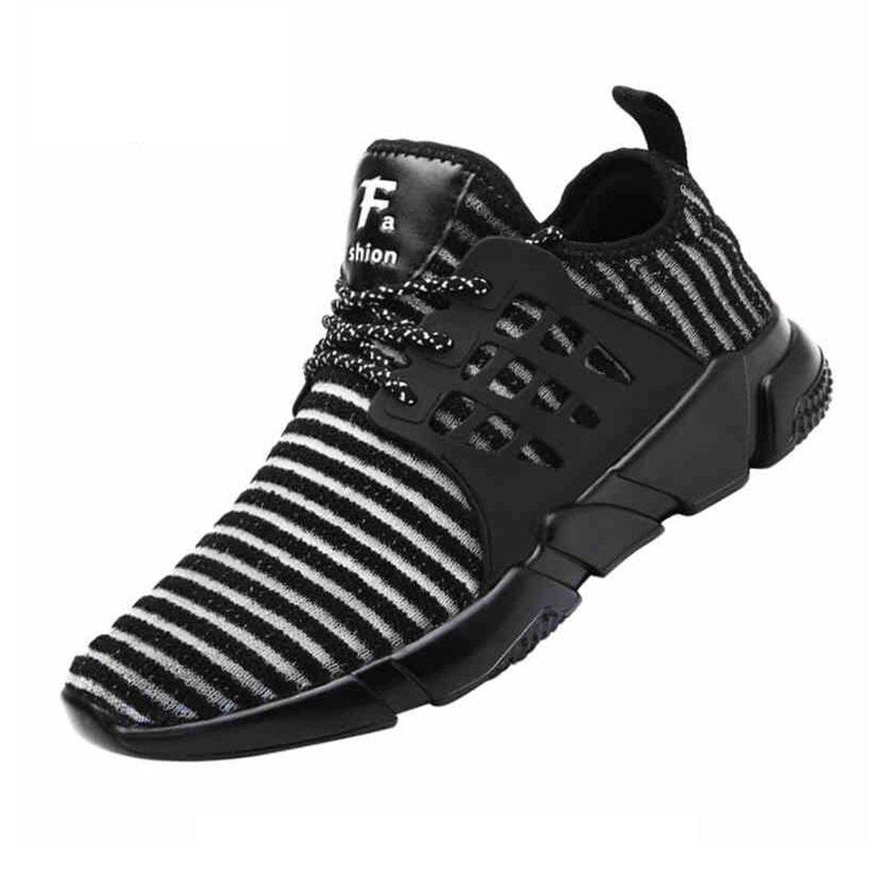 Zapatos YIXINY Deporte Deportivos Coreanos Wave of Men para Hombre Corrientes Nets Shoes Black White Aire Libre y Deporte (Color : 1, Tamaño : EU39/UK6/CN39) EU39/UK6/CN39|1