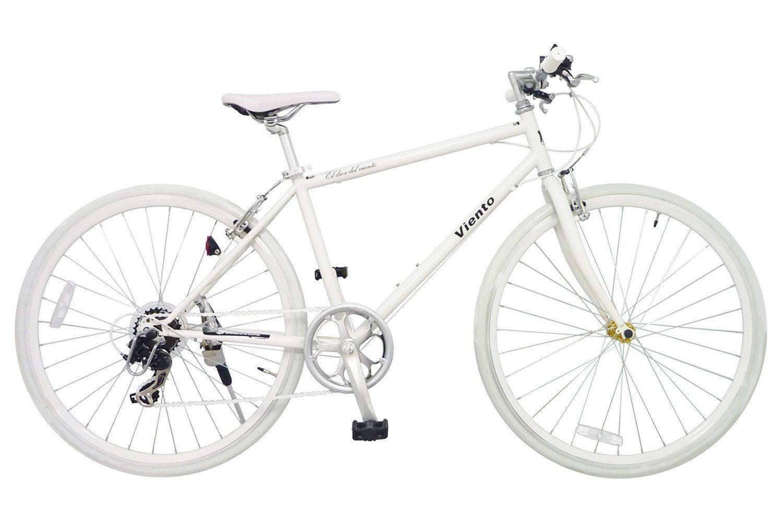 ANIMATO(アニマート) クロスバイク シマノ 7段変速 VIENTO(ヴィエント) 1年保証 B079MF5FG8ホワイト