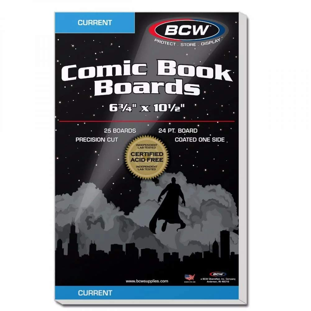 BCW Current Comic Book Backing Boards   White   25-Count by BCW