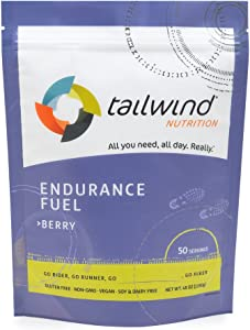 Tailwind Nutrition Berry Endurance Fuel 50 Serving - Hydration Drink Mix with Electrolytes, Carbohydrates - Non-GMO, Gluten-Free, Vegan, No Soy or Dairy
