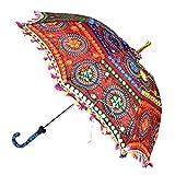 Handmade Embroidery Work Wedding Maroon Umbrella
