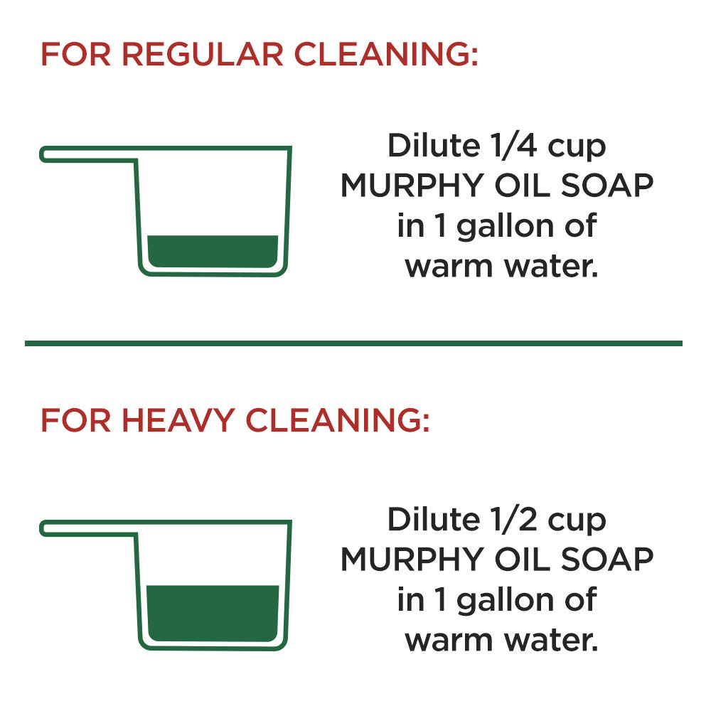 MURPHY OIL SOAP Wood Cleaner, Original, Concentrated Formula, Floor Cleaner, Multi-Use Wood Cleaner, Finished Surface Cleaner, 128 Fluid Ounce (US05480A) by Murphy Oil (Image #11)