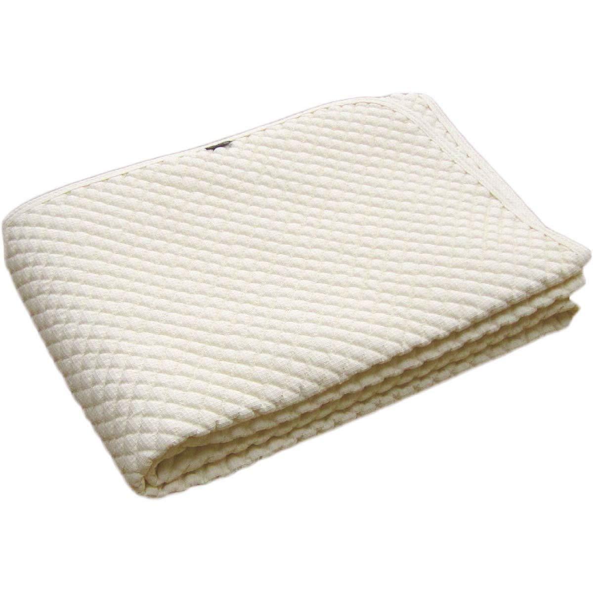 綿100% ポコポコ敷きパッド ワイドクイーン 170×205cm 日本製 スマイル敷きパッド アイボリー B07SG86GZY