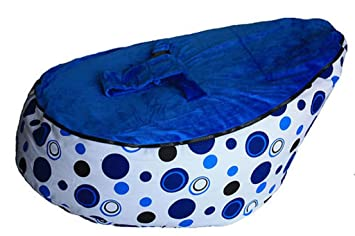 LCY Baby Bean Bag Chair Blue Circles UNFILLED