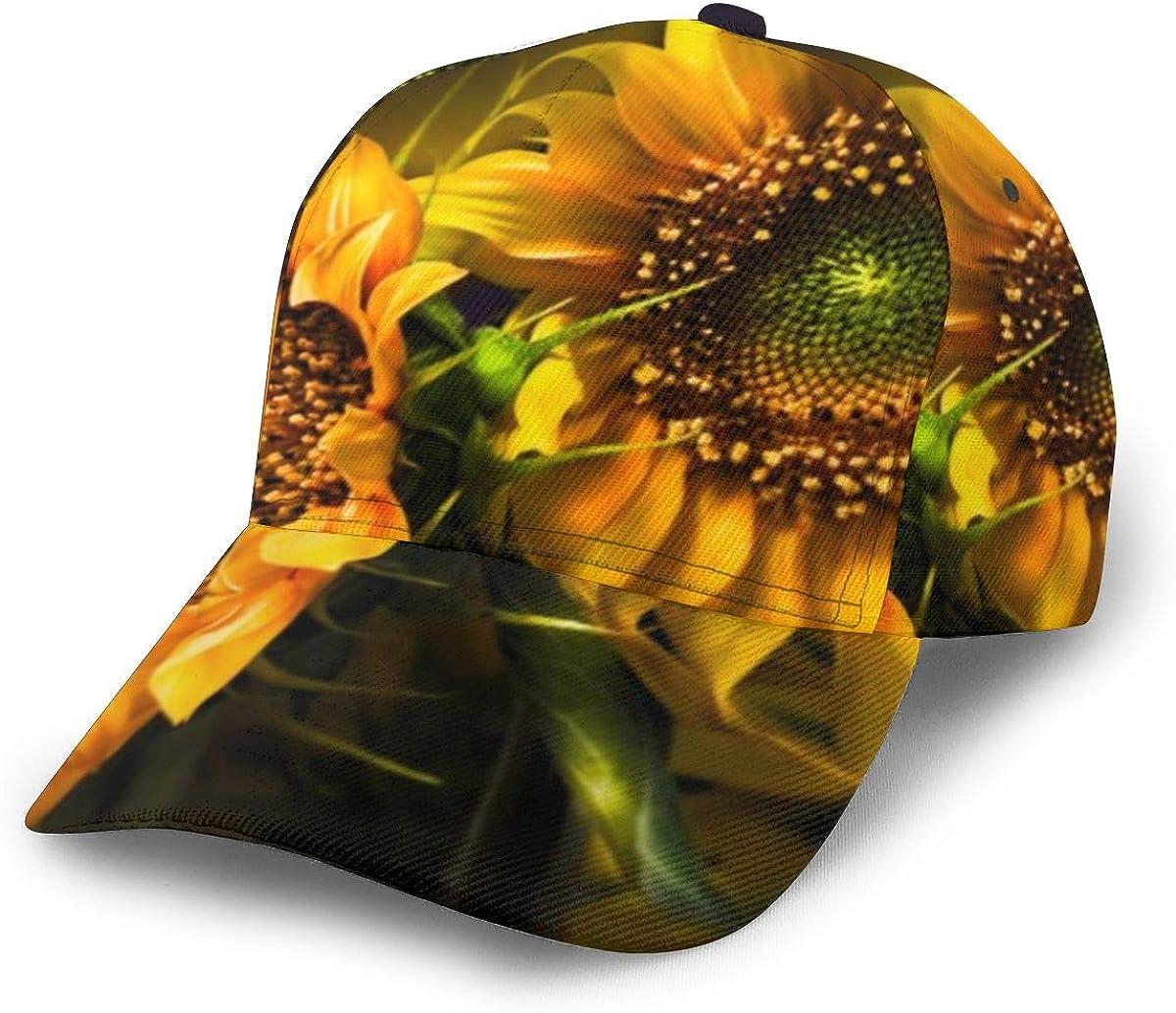 Sunflower 436 Girl Vintage Baseball Cap Unisex Adjustable Baseball Hats Dad Hat Black