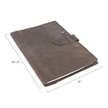 Amazon.com : Leather Composition Notebook Cover with College Ruled ...