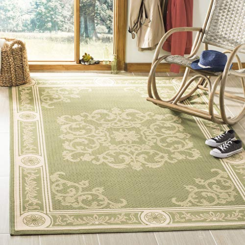 - Safavieh Courtyard Collection CY2914-1E06 Olive and Natural Indoor/ Outdoor Area Rug (5'3