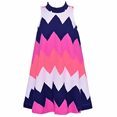 1adce53ff Amazon.com  Bonnie Jean Little Girls Purple White Wide Chevron ...