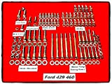 Ford 246 Pieces Big Block Engine Hex Stainless Steel Kit Set 429 460 - House Deals
