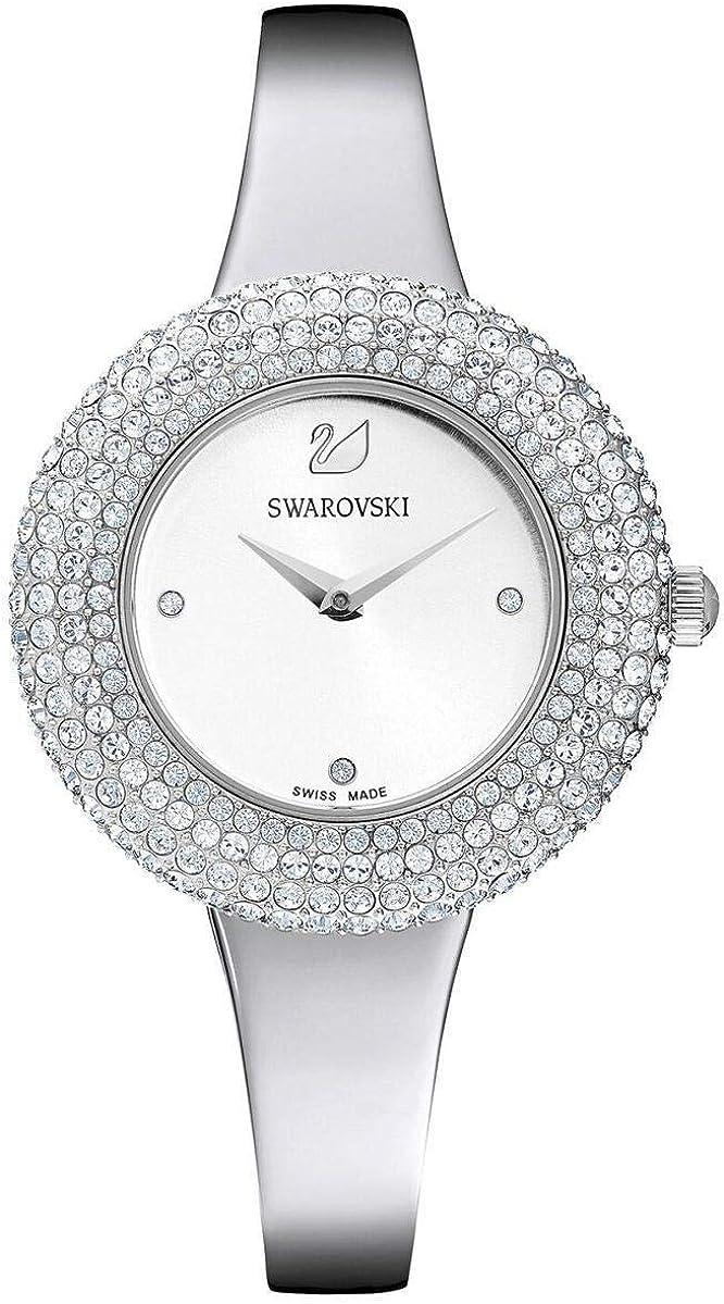 Reloj Swarovski 5483853 Crystal Rose MB STS/Wht/STS, Plateado con Brillantes
