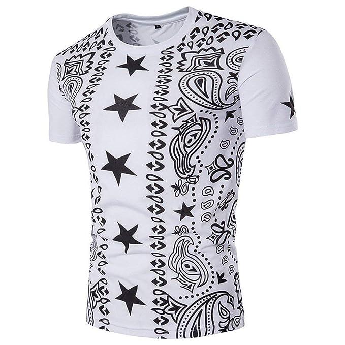 Anaisy Camisa De Manga Corta De Polo De Camisa Jersey Camisa Camisa De Joven  Polo Camisa De Cuello Redondo Camiseta Estampada Étnica De Hombre Slim  ... bd0fbcac5331a