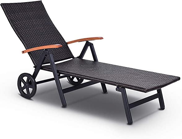 Amazon.com: tangkula Chaise espalda plegable ajustable de ...