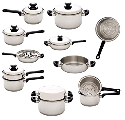 Buy Stainless Steel Waterless Cookware -Set of 17 Piece Online at