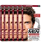 Just For Men AutoStop Men's Hair Color, Medium Brown A-35 (Pack of 6)