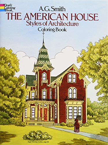 The American House Styles of Architecture Coloring Book (Dover History Coloring Book) (Wicker Furniture Painting Ideas)
