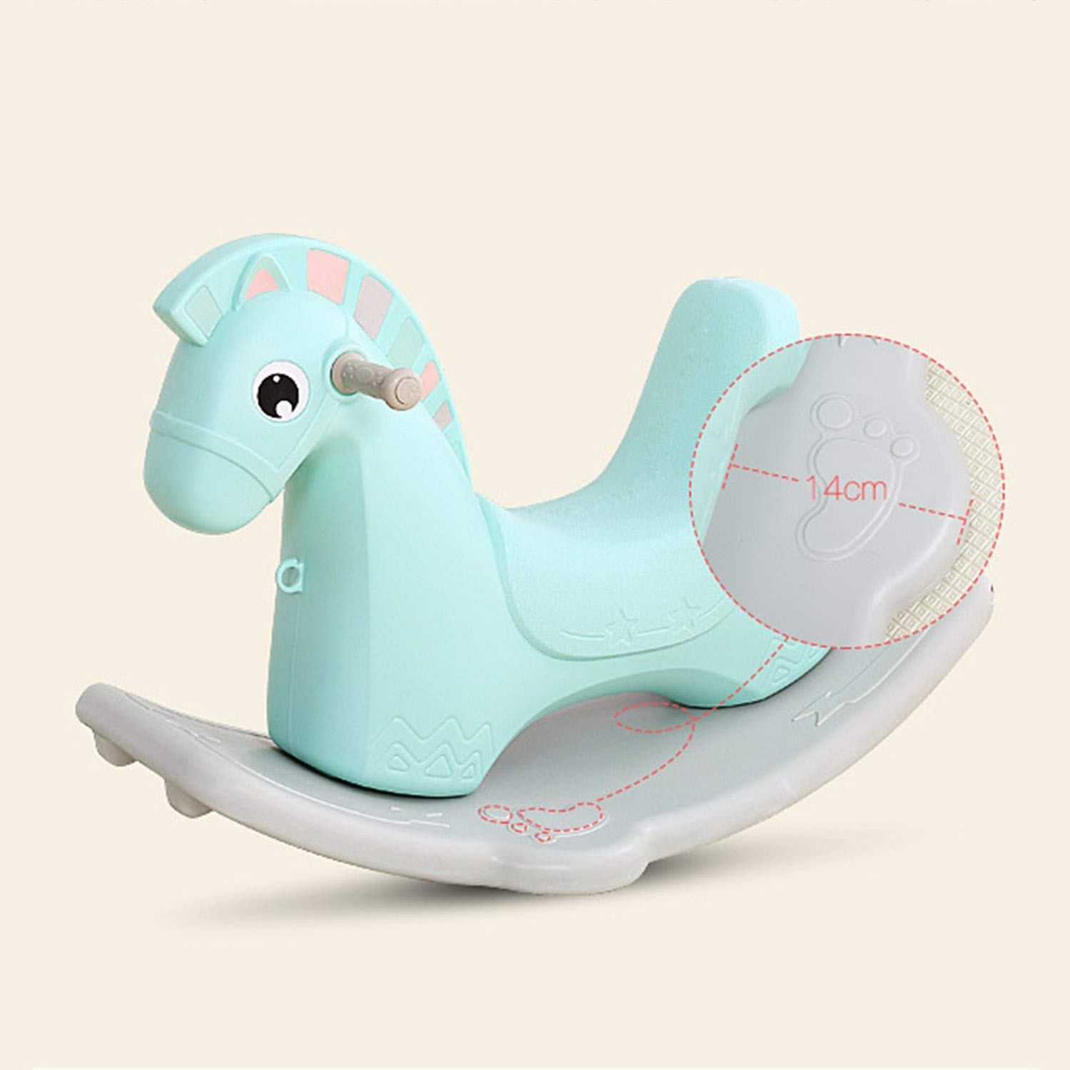 AIBAB Baby Rocking Horse Tumbler Baby Comfort Chair Thick Plastic Multifunction Nursery Boy Girl Toy Gift by AIBAB (Image #4)