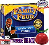 Family Feud Deluxe 40th Anniversary Edition with Classic Console & Electronic Red 3 Mode Game Answer Buzzer and Count Down Timer - Matty's Toy Stop Exclusive!