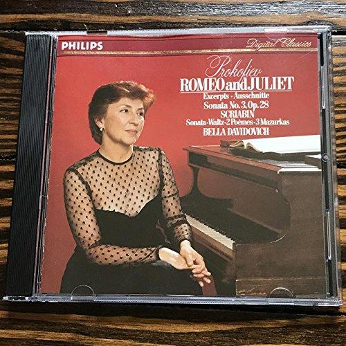Prokofiev: Romeo Juliet Excerpts Sonata Max 65% OFF Ausschnitte No. 3 Max 48% OFF