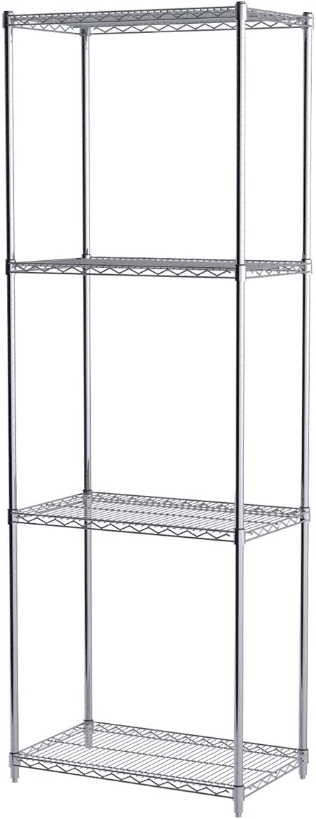 Akro-Mils AWP86UPRIGHT 86-Inch NSF Approved Industrial Grade Chrome Wire Shelf System Upright Leg, 4-Pack