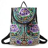 vintage backpack purse - Goodhan Vintage Women Embroidery Ethnic Backpack Travel Handbag Shoulder Bag Mochila
