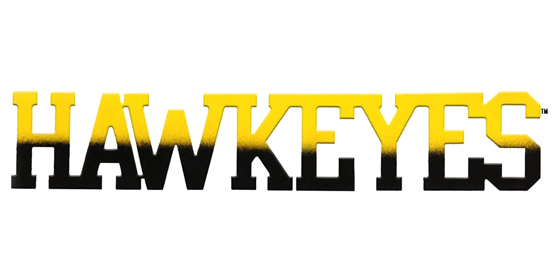 7055 Inc University of Iowa Hawkeyes Word Metal Wall Sign