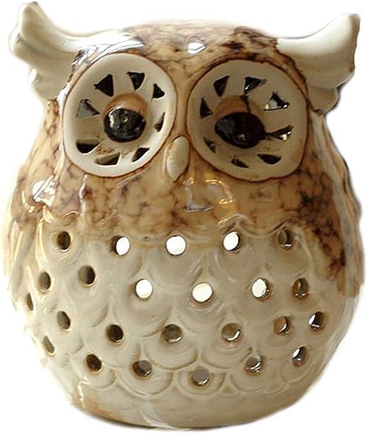 DECORATIVE OWL VOTIVE//CANDLE-GOOD GIFT