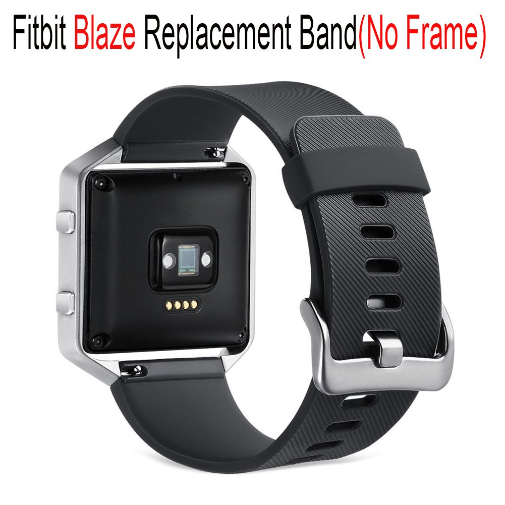 Fitbit Blazeバンドアクセサリー、budesi交換用ブレスレットストラップfor Fitbit Blaze Fitness Smart Watch with Large Small B073QM7FT6 Color 8-Black Large Size