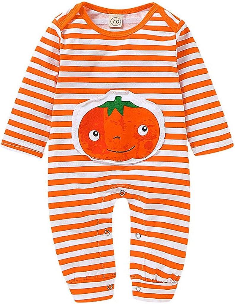 Bambino Halloween Pagliaccetto Bambini Costume Zucca Tuta Body Neonato Pigiama Pagliaccetto Neonato Tutine Abbigliamento Ragazza Ragazzo Abiti Cerimonia Neonata//Arancione 3-24 Mesi