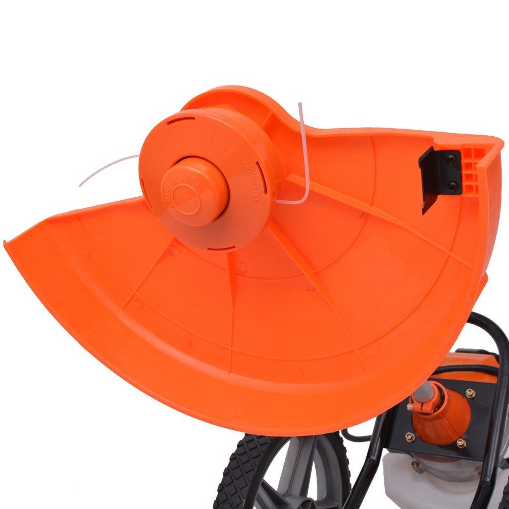 Festnight Desbrozadora 1,9 kW, 2,6 HP Naranja y Negro: Amazon.es ...