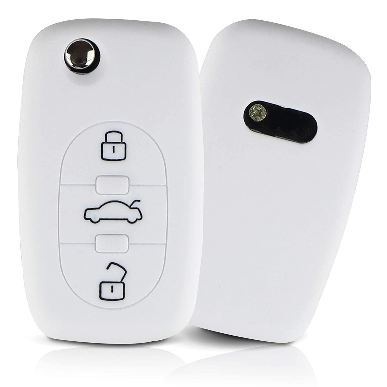 ASARAH Couvercle de cl/é en Silicone Premium Compatible avec Audi Couvercle pour Type de cl/é 3BKB Rouge Couvercle de Protection pour cl/és de Voiture