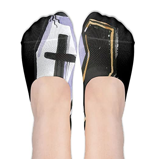 Coffin Halloween Low Cut No Show Socks Liner Socks Low Cut Ped Socks