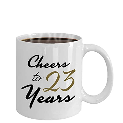 Cheers To 23 Years 23rd Birthday Gift For Her Anniversary Present Year