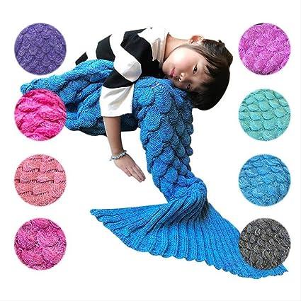 JZWX Básculas de Pescado para niños Mermaid Mantas de Siesta ...