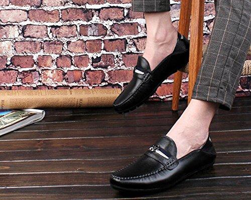 42 Pigro foderi Wild da autunno Mocassini Scarpe Uomo Nero Scarpe Driving Shoes Scarpe Dimensione A e Primavera casual Pedal Piselli uomo Blu Feet pelle In Colore pigri Scarpe AFwRnfzFq