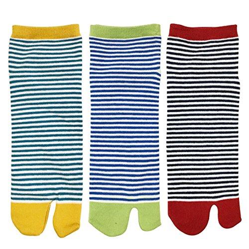 AllyDrew Flip Flop Socks Sandal Socks (set of 3), Stripes