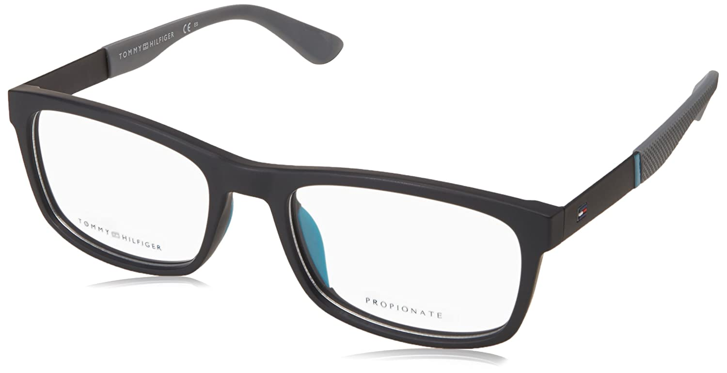 0f50ea1b344 Tommy Hilfiger frame (TH-1522 003) Acetate - Metal Matt Black - Matt Grey  at Amazon Men's Clothing store: