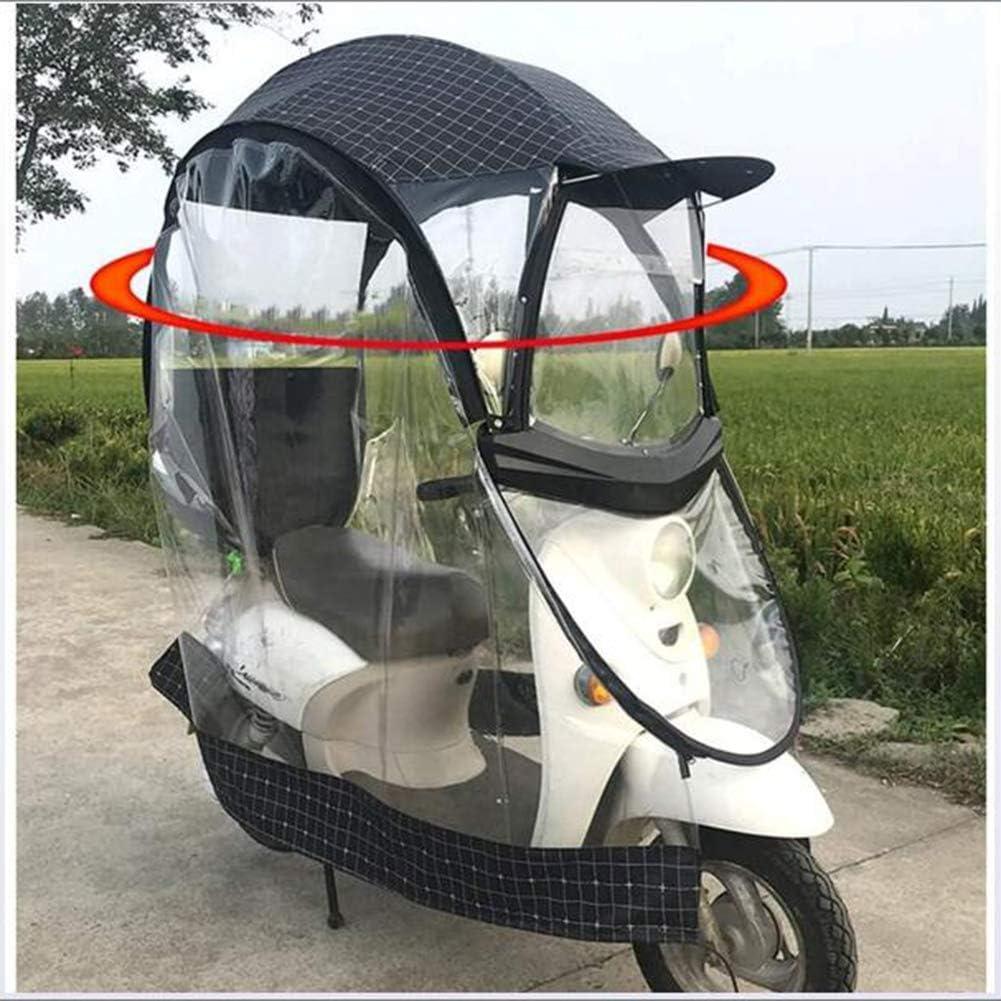 YRX Universal Bicycle Electric Fully Enclosed Sun Shade Rain Cover,Folding Waterproof Umbrella,Motorcycle Umbrella